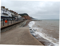 Looking East at Sidmouth.