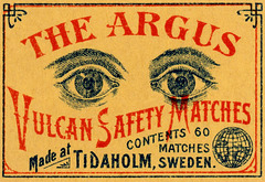 The Argus Vulcan Safety Matches
