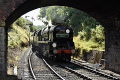 Bournemouth Belle approaching Arley