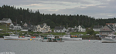 Cutler Village and Harbor -- A Dreary Day