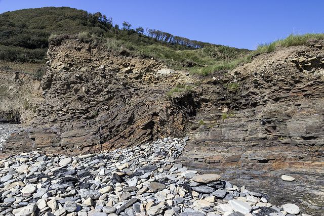 Marros west - cryogenic anticline and solifluction deposits 1