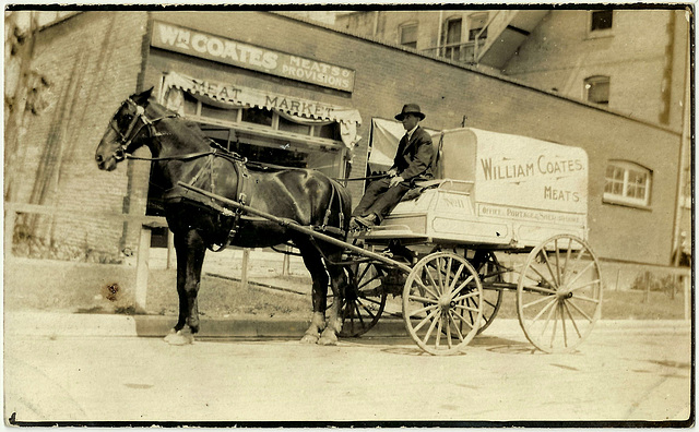 WP1886 WPG - WM. COATES MEATS - DELIVERY WAGON