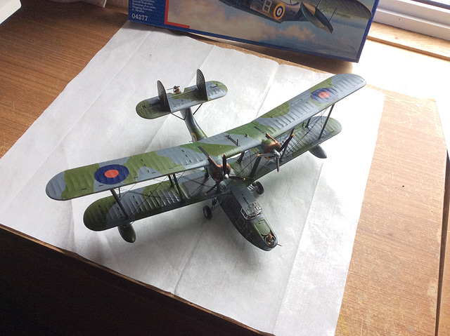 The completed model.