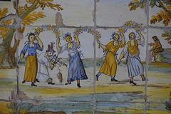 Majolikaschmuck des Klosters Santa Chiara