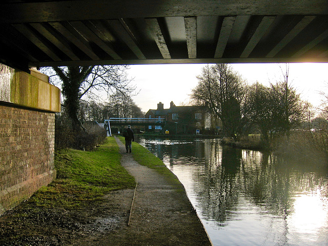Under the Railway Bridge at Huddlesford on the Coventry Canal