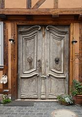Tür eines Barockhauses in Quedlinburg