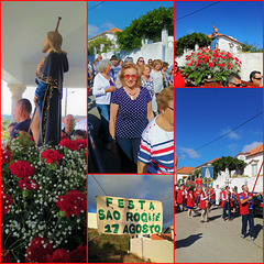 The procession walked around the village