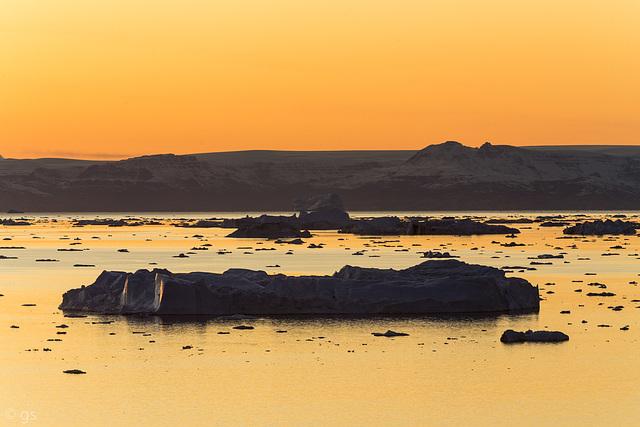 Sunset over Disko Island