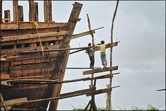 Les acrobates de la navale