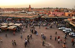 Plaza Jamaa el Fna. Marraquech.