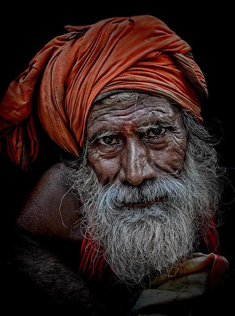 hindu pilgrim in Varanasi