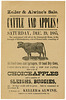 Cattles and Apples! Sale at the Greenawalt House, Elizabethtown, Pa., Dec. 19, 1885
