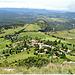 Le village de Plan de Baix vu depuis la falaise