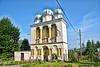 Glockenturm bei   St. Georgs griechisch-orthodoxe Kirche von 1873. Ab 1946 die römisch-katholische Kirche von St. Peter und Paul.