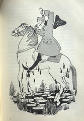 Münchhausen zieht sich und sein Pferd aus dem Sumpf