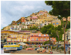 Positano tourist shopping filter
