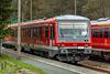 628er  Triebwagen der Westfrankenbahn unterwegs für die Erzgebirgsbahn