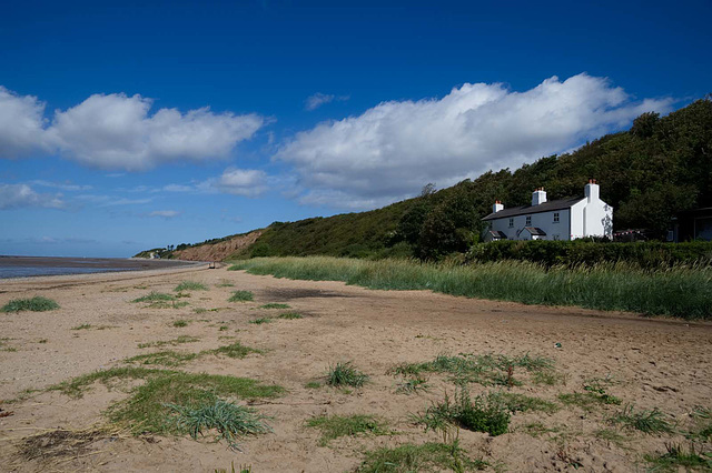 The cottages, Thurstaston beach