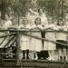 Girls and Women on a Rustic Bridge