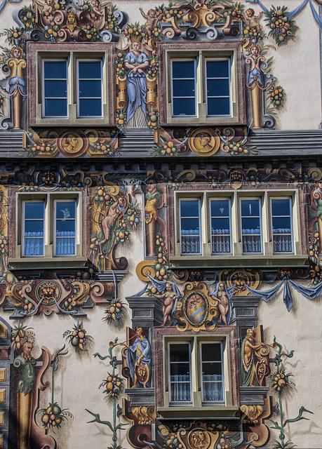 Eine Fassade in Konstanz