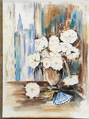 Pastels secs : Un bouquet à HK