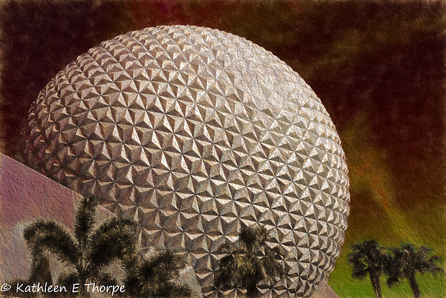 Building Spaceship Earth,  Topaz Filter Ancient