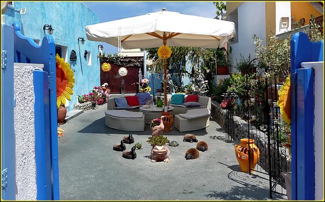 Santorini : Oia, un cortile privato attraente ed accogliente - (995)