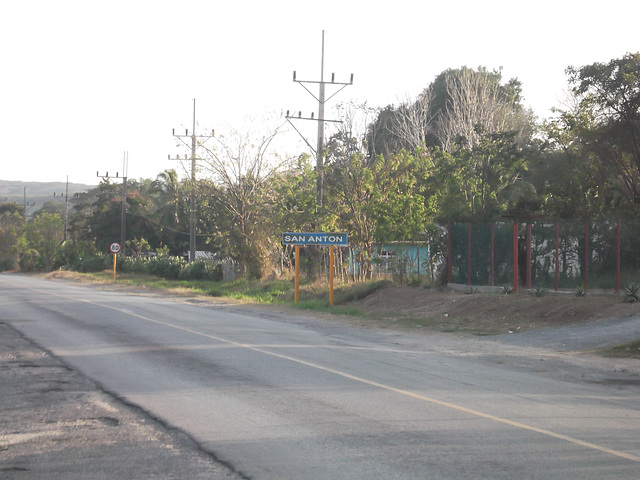 Entering San Anton