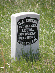 Custer's Grave at Little Bighorn