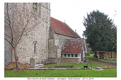 Jevington, St Andrew SW view with porch 26 11 2018