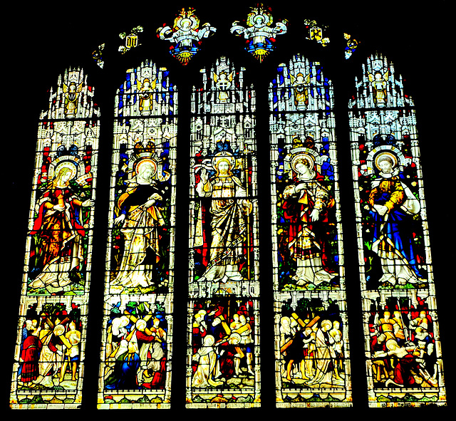 Stained Glass St Nicholas Cathedral.Newcastle