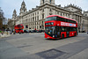 London 2018 – New Routemaster meets old Routemaster on Parliament Square