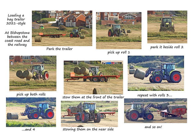 Hay loading - Bishopstone - 22 9 2021