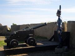 Cannon on the western bulwark.