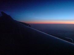 Midnight sun over Greenland