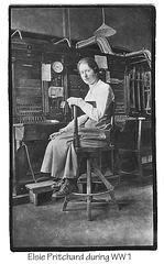 Elsie Pritchard telephonist WW1