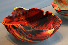 Fused and Folded Glass Bowl