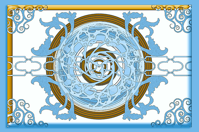 Designed with gomedia arabesque brushes - chrome grad map version