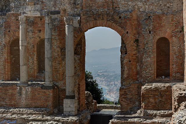 Taormina, Sicily from the Teatro Greco - Romano