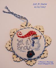 Let It Snow Ornament 11/11/2017