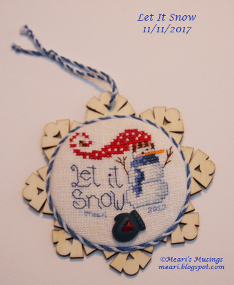 Let It Snow Ornament 11/11/2017