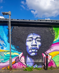 Jimi Hendrix Mural, Brown's Lane, Paisley