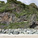 Tenby North Sands chevron fold couplet panorama