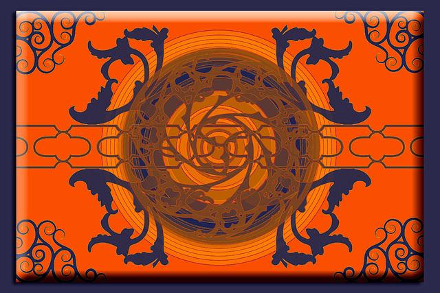 Designed with Gomedia arabesque brushes - orange version