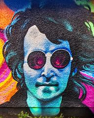 John Lennon Mural, Brown's Lane, Paisley