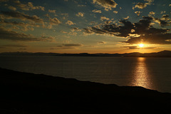 Sunset over the isles of Raasay and Skye