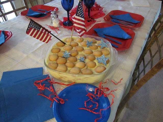 mmmmm!  delicious Celebration.....( Banana Pudding)  !   HAPPY BIRTHDAY AMERICA