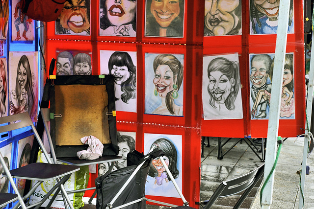 The Caricaturist is Out – Place Jacques-Cartier, Montréal, Québec