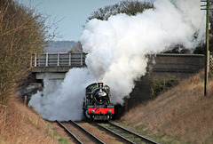 """GWR MODIFIED HALL 4-6-0 No. 6990 """"Witherslack Hall"""" ~ Great Central Railway ~ Jan 30th 2016 127653788"""