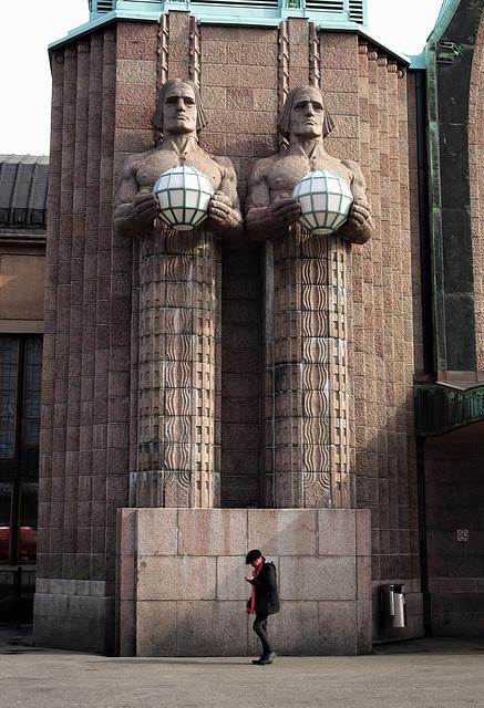 Gotham City Central Station? No, Helsinki Central Station